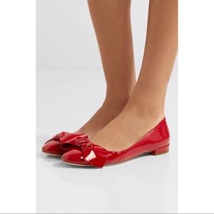 Miu Miu paten leather ballet flats